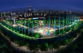 博山新世纪广场灯光秀设计
