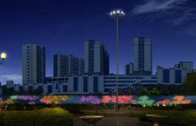 博山新世纪广场灯光大屏设计